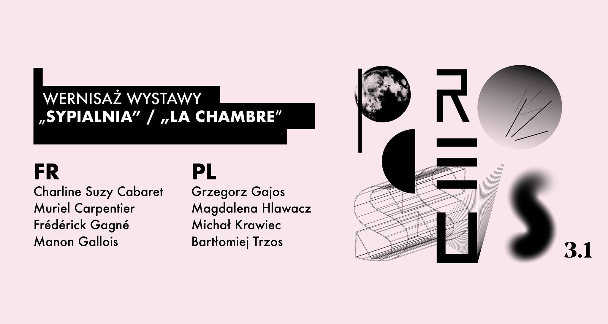 "Wernisaż wystawy ""sypialnia"" / ""La chambre"""